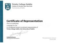 """""""Language For Life"""" - официальный представитель Trinity College Dublin"""